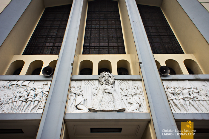 The La Naval Bas Relief at Sto. Domingo Church in Quezon City