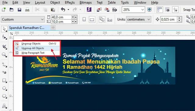 Download Contoh Banner Ramadhan CDR Gratis