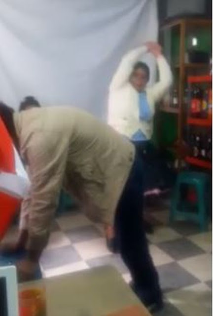 Police Order Woman To Flog The Hell Out Of Her Husband After Beating Her (Watch Video)