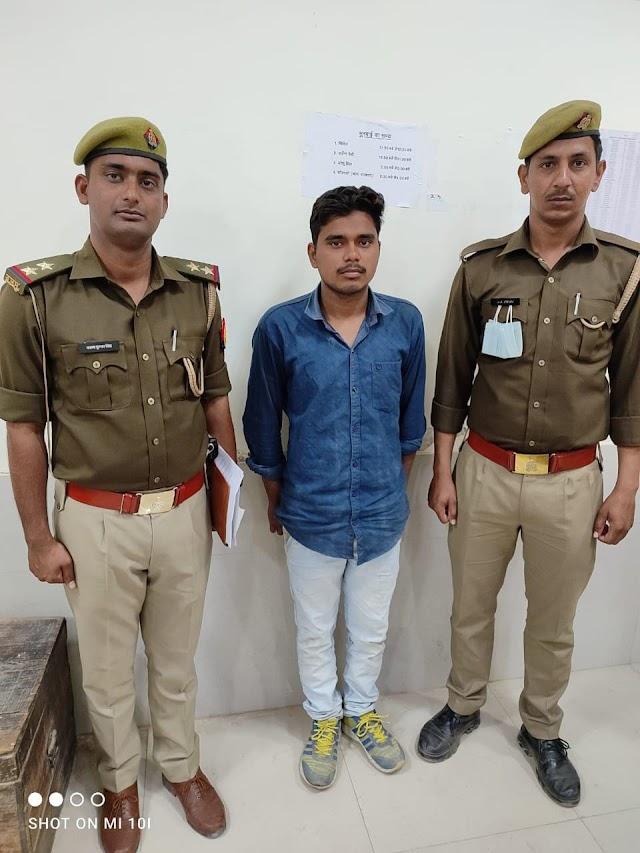 चेकिंग के दौरान सोशल मीडिया पर अवैध तमन्चे के साथ फोटो अपलोड करने वाला अभियुक्त गिरफ्तार.......