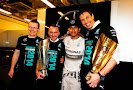 Cowell , Lewis Hamilton, Lowe and Wolff