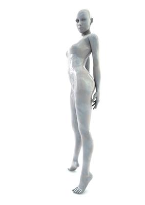 femme 3D pose artistique matiere nacre 3-03a