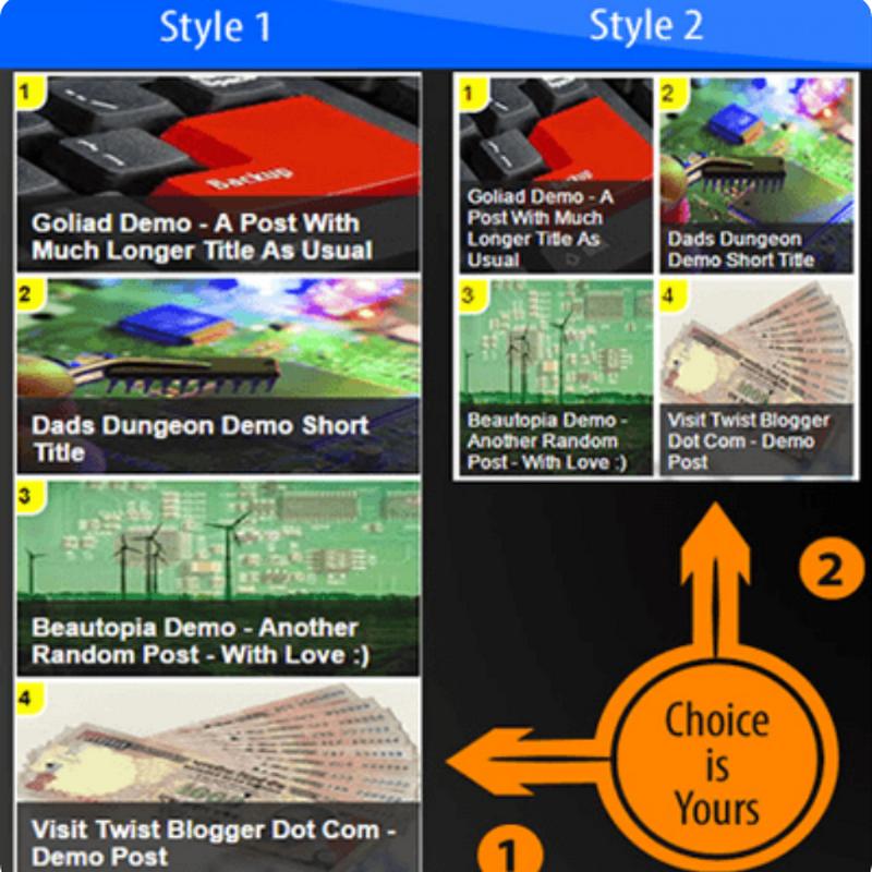 5 varianti di un bellissimo widget per i Post più Popolari in Blogger.