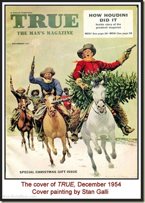 TRUE , Dec 1954 - cover by Stan Galli MPM