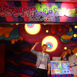 Matt & Pamela at the Kawaii Monster Cafe in Harajuku in Harajuku, Tokyo, Japan