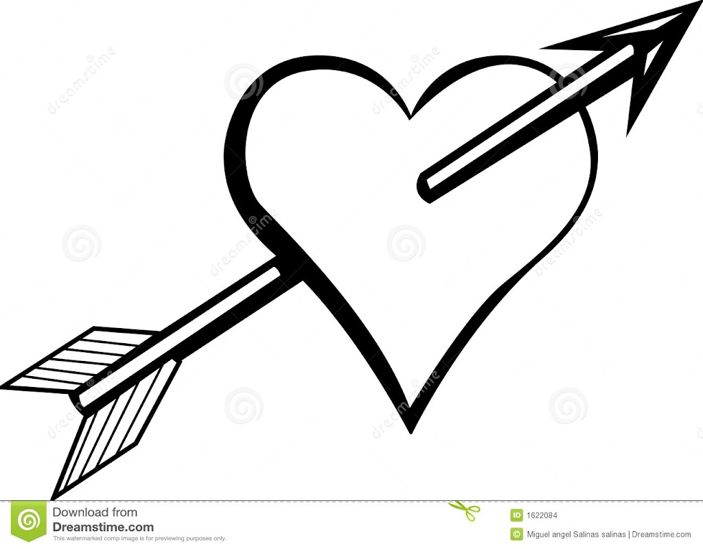 Hd Coloring Pages Of Hearts With Arrows Free