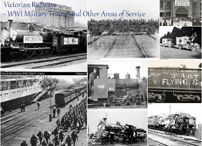 Victorian Railways - WW1 Military Trains And Other Areas of Service