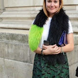 WWW.ENTSIMAGES.COM -  Antonia O'Brien   leaving    The Design Collective for Evans at The Freemasons Hall, LondonSeptember 16th 2014Show hosted by Arcadia Group owner Sir Philip Green as plus size retailer Evans makes its debut on the London Fashion Week schedule.                                                   Photo Mobis Photos/OIC 0203 174 1069