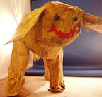 Papier-mâché Puppy by Evan