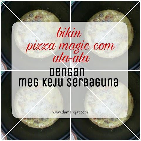 Bikin Pizza Magic Com Ala-Ala Dengan Meg Keju Serbaguna