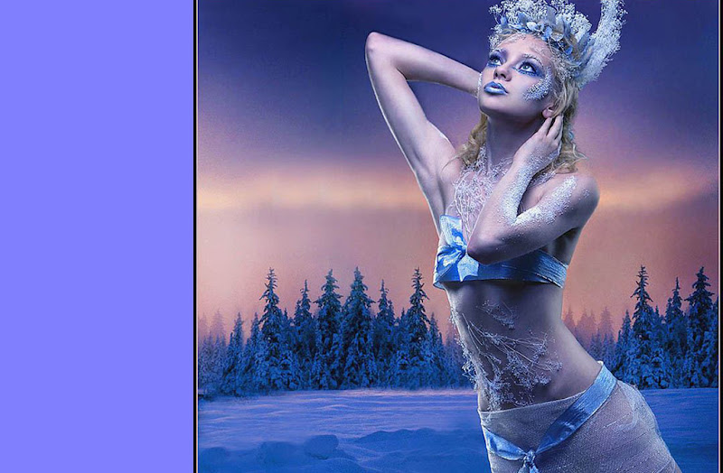 Blue Girl In Winter Forest, Magic Beauties 3