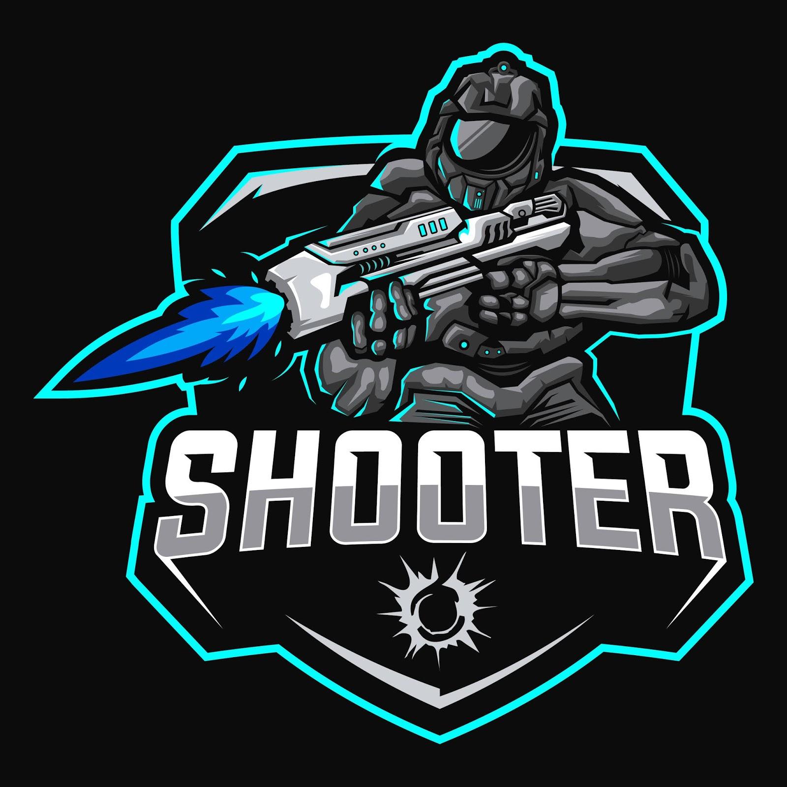 Robots Shooter Mascot Esport Logo Free Download Vector CDR, AI, EPS and PNG Formats
