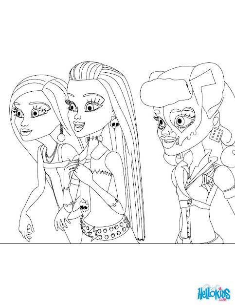 Print Out Monster High Monster High Dolls Coloring Sheet For Girls   Coloring Page  Girl Coloring Pages  Monster