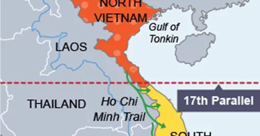 17th parallel line map vietnam