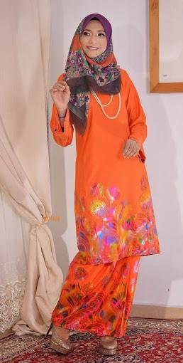 Baju Raya 2014 Baju Kurung Pahang Cotton 3D