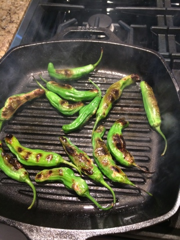 Sassy Wine Belly - Grilled Shishito Peppers Recipe