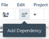 'Add Dependency' button