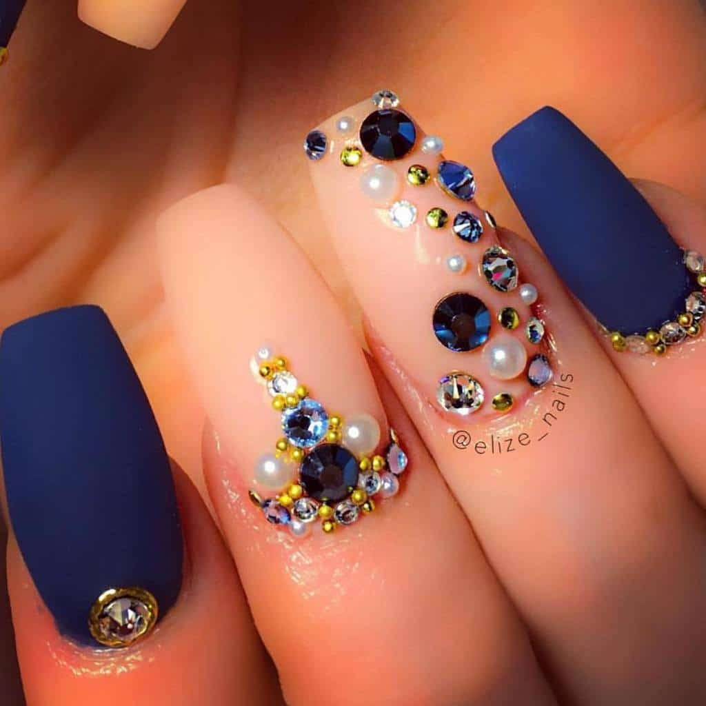 50 Pretty Blue Nails Art Designs You'll Want To Try