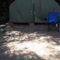 """The """"Small Bear"""" LOVED this tent.  Lot's of goodies!"""