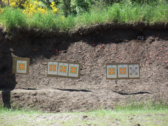 New set of targets set up.  Even going to shoot some orange clay birds!