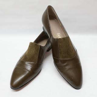 Salvatore Ferragamo New  Olive Green Shoes