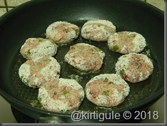 cutlets with oil
