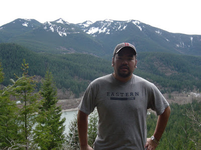 Photo of me on top of Rattlesnake Ledge. Photo taken on March 9, 2008.