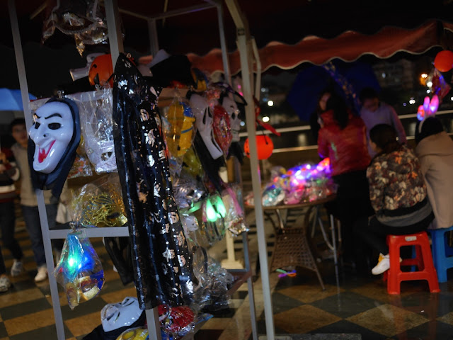 Halloween supplies for sale at The History East Street in Shaoguan