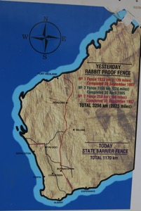 Rabbit Proof Fence Map
