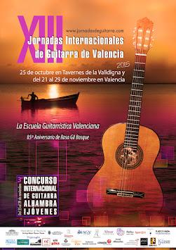 XIII Jornadas Internacionales de Guitarra de Valencia 2015