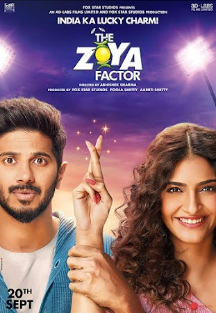 Poster Of Bollywood Movie The Zoya Factor 2019 300MB Pdvd Full Hindi Movie