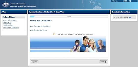 aplicar visa de turista australia