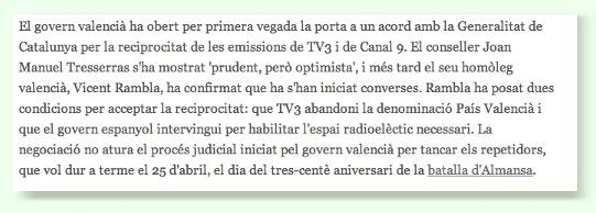 Notícia Vilaweb 2007