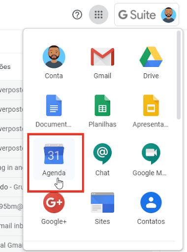 Acessar o Google Agenda
