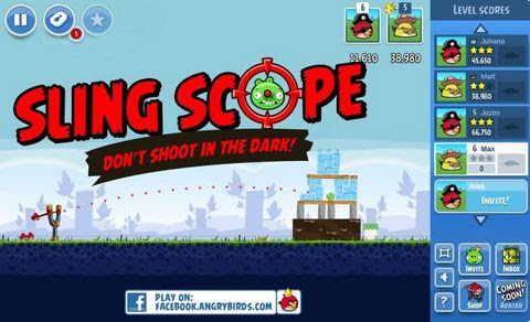 Sling Scope Laser for Angry Birds on Facebook
