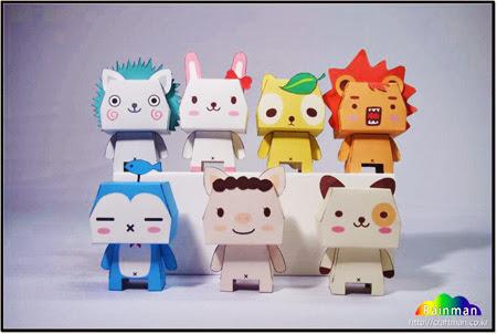 PandaDog Paper Toys