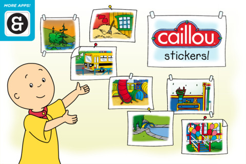 Caillou Stickers Main Page