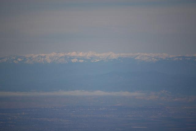 snowy Sierra Nevada Mountains