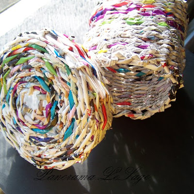 papierowa wiklina plecionki koszyk ozdoby do domu Panorama LeSage Anna Grabowska
