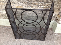 Large 3 way black metal fireguard  £99.00  SALE £79.00