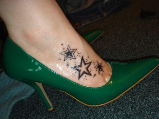 crazy foot tattoos