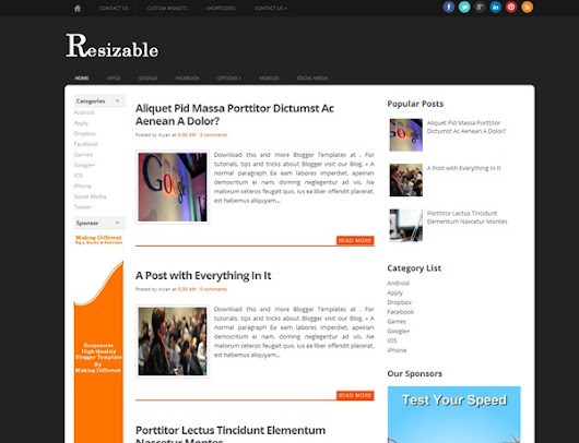 Resizable Blogger Template | Vice Blogger