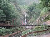 bridge and waterfall at Taroko Gorge