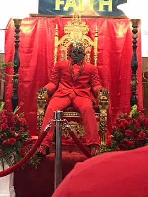 Unbelievable! Dead Man Spotted Sitting On A Throne At His Own Funeral [Photos]
