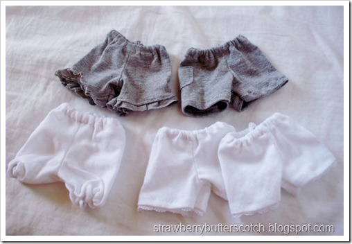 5 a Week: Doll Sized Shorts