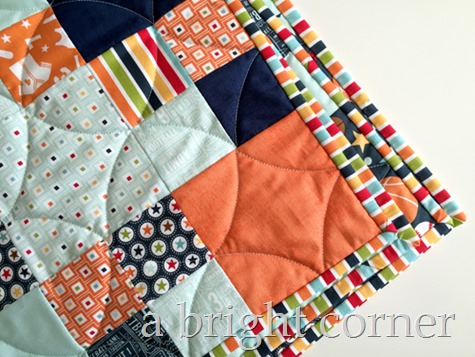 Play Ball baby quilt