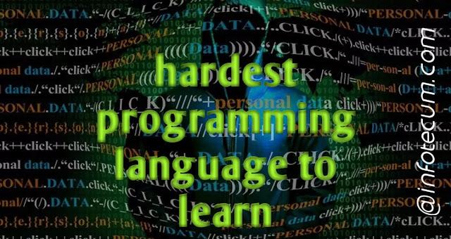 hardest programming language to learn