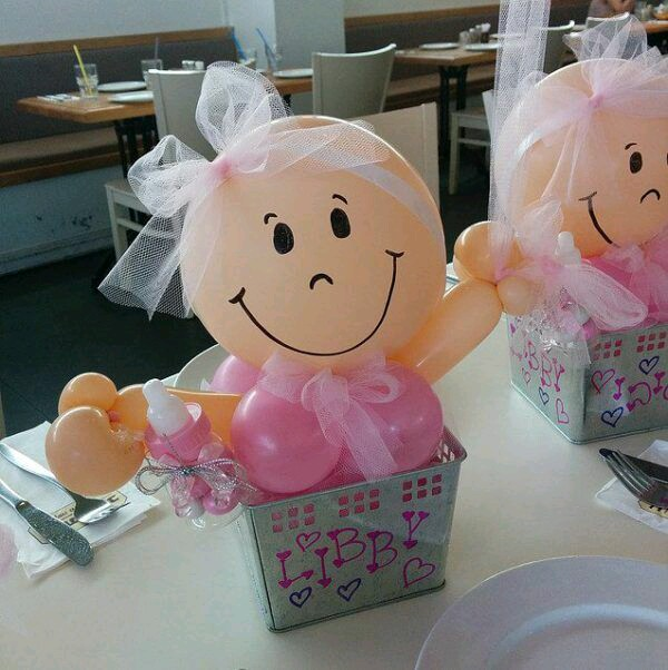 Bellas ideas de centros de mesa para baby shower for Centro de mesa baby shower