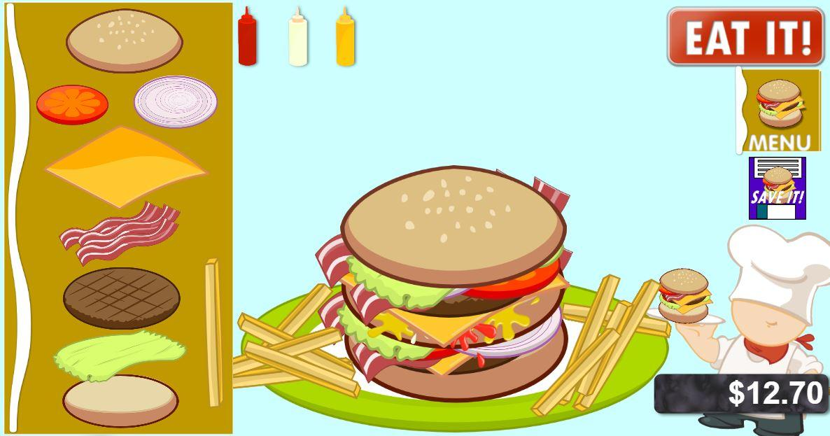 Kids BURGERS & Fries!!- screenshot