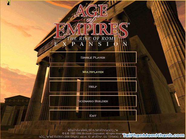 Tải game Đế chế Xanh - Phiên bản AOE 1.0